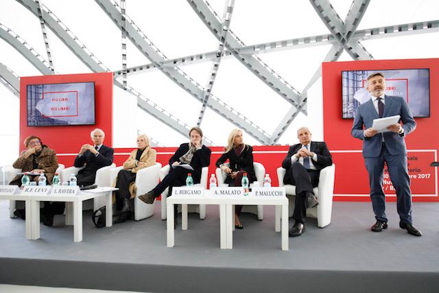 La Nuvola, Conferenza stampa : da sin. Cristiano, Levi, Ravera, Bergamo, Malato, Malucchi, Fabio Del Giudice
