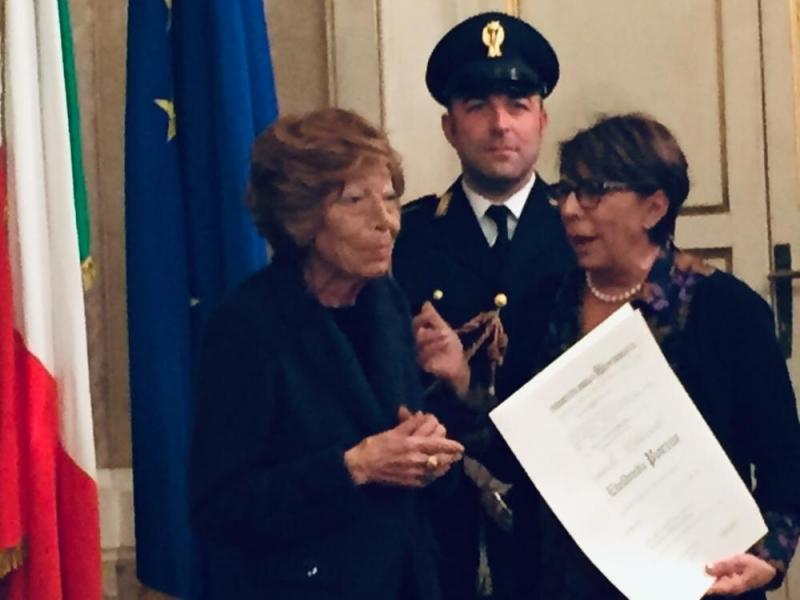 Ethel Porzio Serravalle con la prefetto di Roma, Paola Basilone