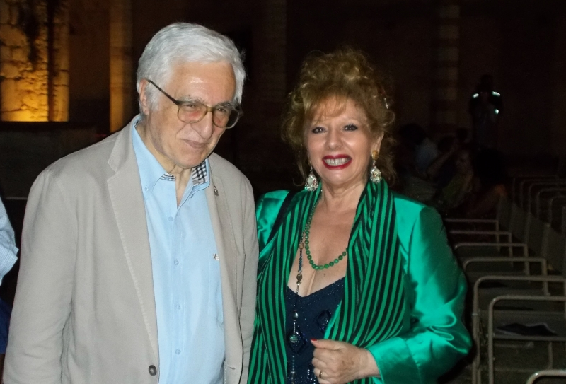 Anna Manna con Umberto De Augustinis, Sindaco di Spoleto