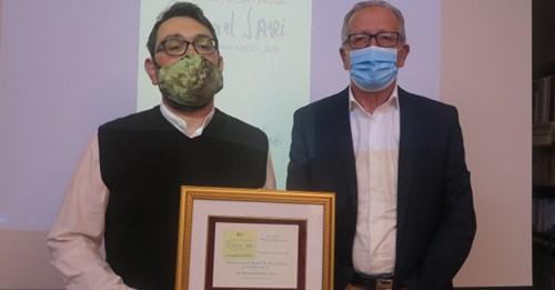 A sin.nella foto, Massimiliano Fois e il presidente Tilloca