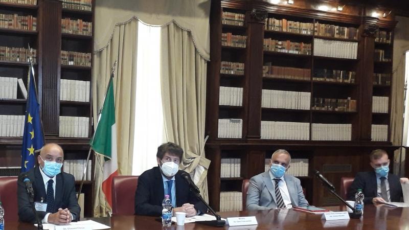 Roma, Ministero della Cultura, al centro il minstro Dario Franceschini